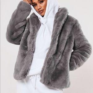 ✨NEW LIST✨ Full Zip Fuzzy Faux Fur Winter Coat